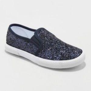 Cat & Jack Girls' Ethana Glitter Sneakers